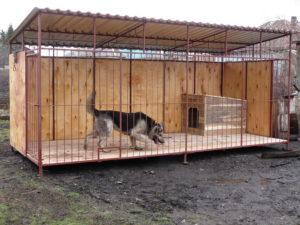 вариант вольера для собаки