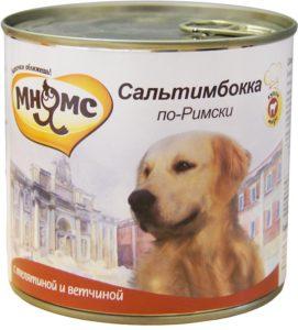 валта корм для собак мнямс