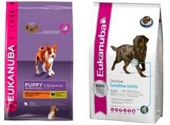 эукануба корм для собак асортимент